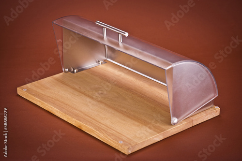 bread box on brown background