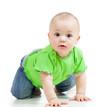 funny baby crawling