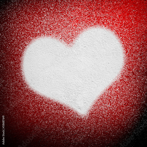 spray background with love