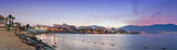 Panoramic view on popular beaches of Eilat, Israel