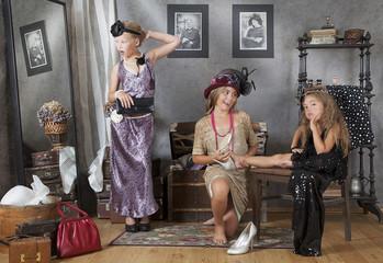 Little vintage girls