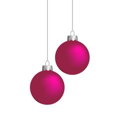 Weihnachtskugeln, pink