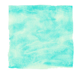 Abstract turquoise watercolor background. Design element