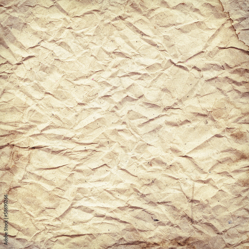old, stained, crumpled vintage paper texture