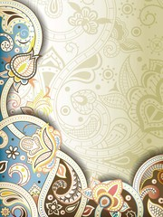 Abstract Swirly Floral Background