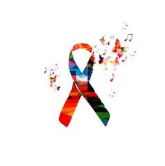 AIDS awareness ribbon vector illustration