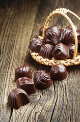 Chocolate candy closeup