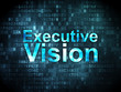 Business concept: Executive Vision on digital background