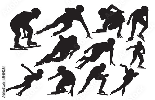 Speed skating silhouette