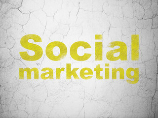Marketing concept: Social Marketing on wall background