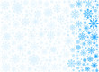 Vector frosty snowflakes background - 58694869