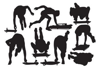 Vector skeleton sport silhouette