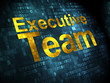 Business concept: Executive Team on digital background