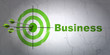 Business concept: target and Business on wall background