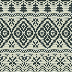 Scandinavian knitted seamless pattern