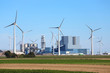 Leinwanddruck Bild - Kohlekraftwerk Eemshaven