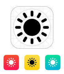 Sun weather icon.