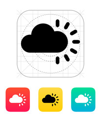 Cloudy weather icon.