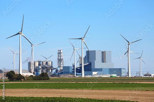 Leinwanddruck Bild Kohlekraftwerk Eemshaven