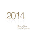 Gold 2014 inside greeting card vector