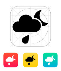 Night rain weather icon.