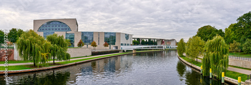 Spree river and Federal Chancellery, Berlin, Germany