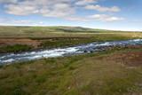 fiume con rapide vicino a Gullfoss in Islanda