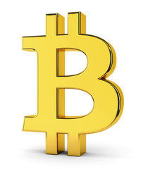 Bitcoin golden symbol