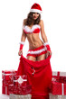Sexy Santa woman as Christmas gift