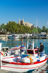 Fischerboote im Hafen von Palma de Mallorca 7996
