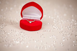 "Luxury jewel box with diamond ring ""I love you"""
