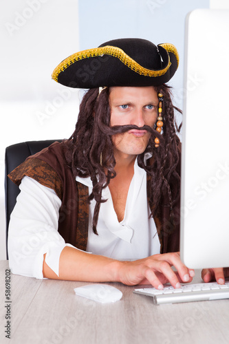 Pirate Using Computer