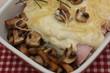 Jambon béchamel champignons de Paris