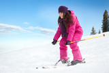 Young woman skiing