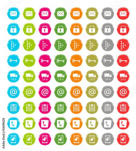 Set de coloridos iconos para web