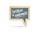 certifié conforme, certificat de conformité poster