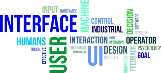 word cloud - user interface