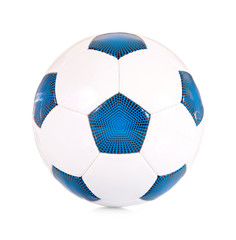 Klassischer Fußball blau/weiß