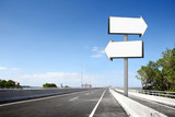blank billboard or road sign