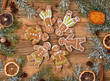 Gingerbread with fir tree braches