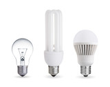 tungsten bulb,fluorescent bulb and LED bulb