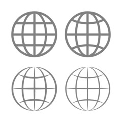 Earth Globe Emblem Set. Vector