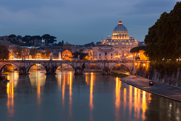 View of Saint Peter's Basilica,Vatican
