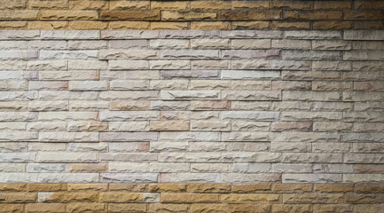 Two tones modern stone wall