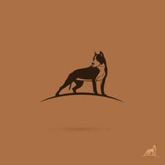 Pit bull terrier label