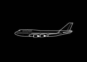 Outlined aircraft