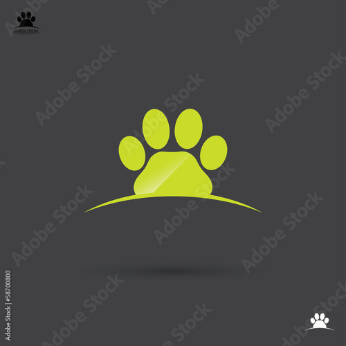 Animal footprint label