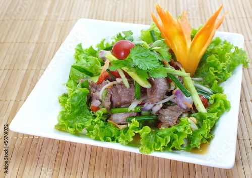 Beef Spicy salad