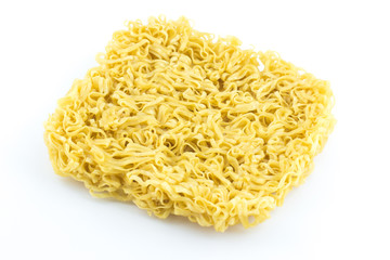 Instant noodles raw isolated