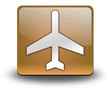 "Orange 3D Effect Icon ""Airport / Airplane"""
